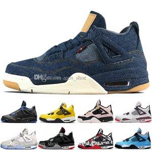 Mit Box Hot 2019 Neueste Bred 4 IV 4 s Was Der Kaktus Jack Laser Wings Herren Basketball Schuhe Eminem Pale Citron Männer Sport Designer Turnschuhe