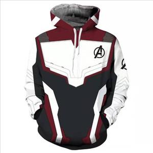 2019 holt vendita economici all'ingrosso personalizzato design softshell giacca da caccia Avengers 4 Quantum Realm Felpa Ypf193