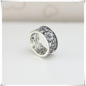 Новое высокое качество бренда S925 серебряное кольцо круглое серебряное кольцо типа Лепесток для любителей моды подарок кольцо приходят с мешком