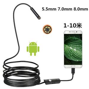 1 pz 5.5mm 7mm 8mm Telecamera Android Telecamera Industriale Endoscopio Industriale Tubo Dental Auto USB Strumento di riparazione 1M 2M 3,5 m 5m 10m Cavo flessibile