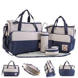 5 개 / 대 대용량 아기 기저귀 세트 가방 유모차 엄마 출산 기저귀 가방 핸드백 세트 패드 아기 관리