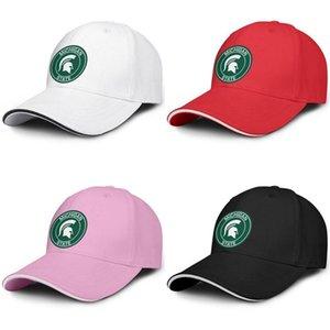 Michigan State Spartans Ronda conductor de camión Logo Sandwich ajustable del sombrero diseño fresco personalizó la gorra espartanos espartanos-3-4 baloncesto