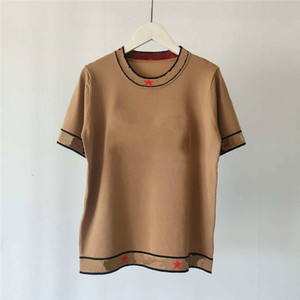 20 ans Femmes Designer T-shirts de marque T-shirts Lettre de broderie Fashion Style Laine luxe Hauts Lady T-shirts Vêtements LR200435