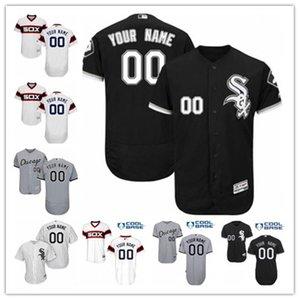 personalizzato qualsiasi numero nome baseball Jersey White Sox di baseball di usura 2020 della nave libera Chicago maglie uomini donne giovani