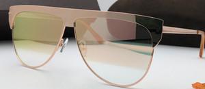 707 Роскошные женские металлические солнцезащитные очки Полный кадр модный стиль отдыха дизайнер очки анти-UV400 защиты квадратных очки с пакетом