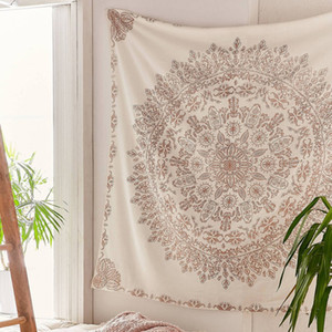 Tapestry Mandala Hippie Boemia Wall Hanging Flower Tapestry Wall Hanging Decor Soggiorno Camera da letto 145x145cm