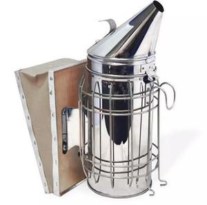 Trasmettitore di fumo ad alette manuale in acciaio inossidabile Kit apicoltura Apicoltura Fumatore Protezione dell'aria e del calore