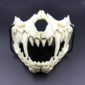 Japon Ejderha Tanrı Tide Cosplay Ürünleri Cadılar Bayramı Performans Dikmeler Azılı Kaplan Yüz Maskeleri Gece Çatal Yüz dekorasyon Maske