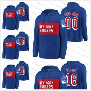 Customize New York Rangers Classic Hoodies Jerseys 20 Chris Kreider 30 Henrik Lundqvist Pavel Buchnevich 16 Ryan Strome Men Women Youth