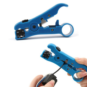 Réseau câble Stripper Cutter Pince À Dénuder Outil Plat ou rond Utp Cat5 Cat6 Fil Coaxial Coaxial outil de dénudage