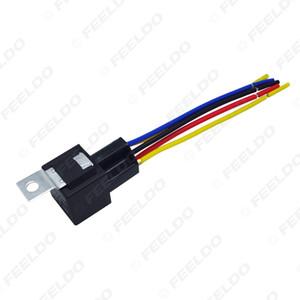 Venda Por Atacado alarme de carro automotivo JD1914 5 pinos 12VDC 40 / 30A controlador de relé constantemente fechado com chicote de fios # 3909