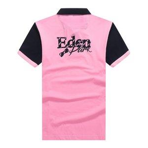 Francia marchio Estate Eden Park Ricamo Polo maglia maniche corte uomo uomini casuali camice doganale Fit Polo Homme camisetas Cotone Tees Polo