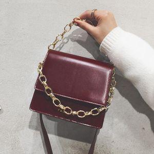 Chain Designer-2019 New Messenger Simple Mini Bag Fashion Messenger Crossbody Bag Ladies Shoulder Bag Zhongbang 12