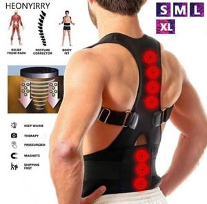Corretor de postura magnética Neoprene Back Corset Brace Alisador de Ombro de Volta Cinto Cinto de Suporte da Espinha para Mulheres Dos Homens