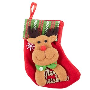 Christmas socks Striped Christmas socks tree pendant Christmas decorations red Elk