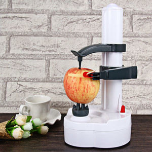 4 Colors Electric Peeler for Vegetable Fruit Kitchen Tool with Two Spare Blades Automatic Stainless Steel Peeling Machine C18122201