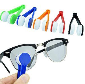Mini Microfibre verres de lunettes Cleaner clip brosse Lunettes de soleil nettoyage Microfibre Cleaner brosse Home Office LX1087