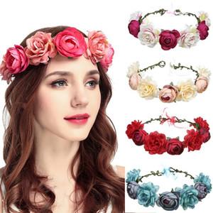 Simulation Girlande Braut Gefälschte Rose Blume Künstliche Blumen Hoop Manuelle Kranz Hochzeit Dekorieren Rot Blau Mode 7 55jy C1