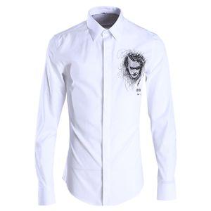 Neueste mode frühling männer dress shirt stickerei clown camisa masculino hochwertige baumwollmischung männer casual shirt plus größe 4xl