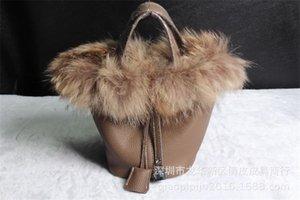Elegant2019 Fonds Fox cheveux Panier Véritable Atmosphere seule épaule en cuir portable femme Forfait