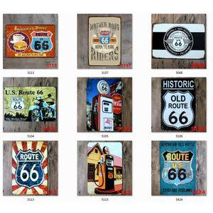 ROUTE 66 Targa in metallo piastra metallica Ferro Pittura Kids Room parete Bar Coffee Home Arte Artigianato decorazione 30x20cm JK2006XB