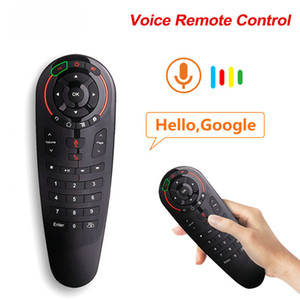 G30 Voice Remote Control 2.4G Wireless Air Mouse Microphone Gyroscope 33 Keyboards IR Learning For Android TV Box PK G10s W1