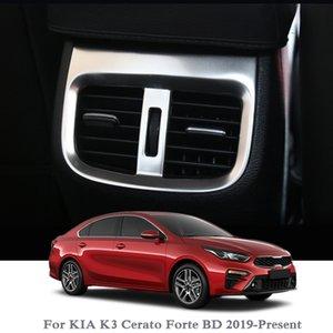 Car Styling saída traseira Lantejoula Quadro Para KIA Cerato K3 Forte BD 2019 adesivo Interior Voltar Air Vent tampa Quadro Lantejoula Acessório
