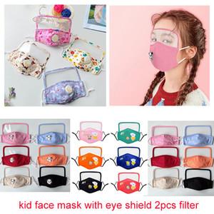 호흡 밸브 투명 눈 차폐 아이 디자이너 안면 마스크는 먼지 방지 안개 패션 입 마스크 2 개 필터 마스크 대향