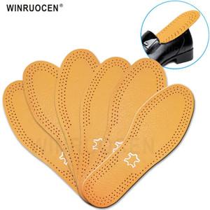 Ultra Thin respirante Déodorant cuir Semelles Pigskin instantanément Absorber remplacement Sweat intérieur Soles Chaussures Pads Insole