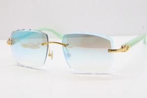 2019 Оптовая Rimless очки Горячие мрамор синий ацтеков солнцезащитной Hot Metal Mix Arms 3524012 Солнцезащитные очки Unisex с коробкой Солнечные очки Новый