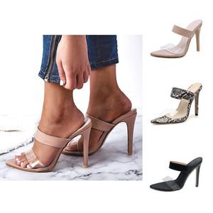 Womens Slides Apontado Salto Alto Sandálias Tamanho Grande Slides Chinelos Moda Sandales Femmes Designer