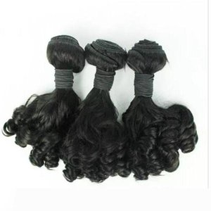 Aunty Funmi Hair Unprocessed Brazilian Aunty Funmi Hair Bouncy Curls Human Hair Extension 3PC Lot for african women Fast Shipping