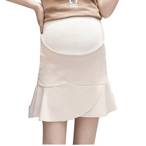 2019 Summer Maternity Skirt Bottom Clothes for Pregnant Women Pregnancy Korean Anti-light Skirts