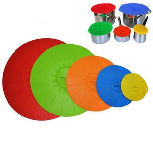 5pcs / set extensible en silicone Couvercles Pan Pot de cuisson Couvercle réutilisable frais Garder Pan couverture de cuisine Outils OOA7549-4