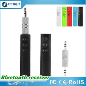 BT2 Mini Adaptador Receptor de Áudio Sem Fio Bluetooth AUX Receptor de Carro Hands-free Chamando e Sem Fio de Reprodução de Música 3.5mm AUX MQ100