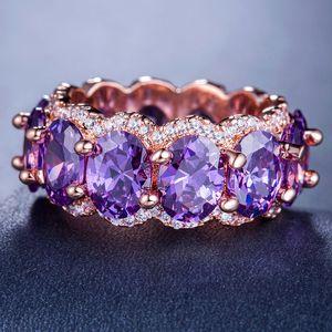 colección personal Zhimu adornos de lujo rosa anillo de oro de la moda con la caja de la joyería exquisita