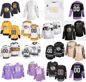 2020 Winter Classic Nashville Predators Eishockey 8 Kyle Turris Trikots Herren 64 Mikael Granlund 51 Austin Watson 10 Colton Sissons Custom Name