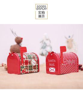 Giocattoli creativi scatola di latta scatola di immagazzinaggio casella di posta di latta delle decorazioni di Natale giocattoli di laurea stagione regali