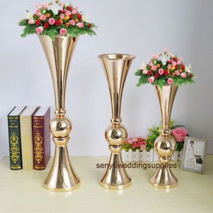 New style Latest design Cheap big tall floral wedding centerpieces metal stand for sale senyu0341