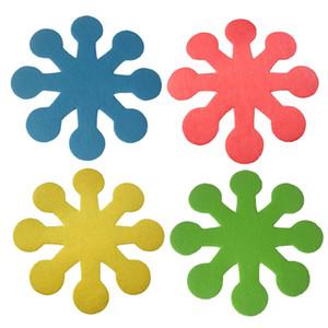 1 Set, 4 piezas de ollas y sartenes protectores anti-arañazos Pads divisores para cartones de Utensilios de cocina Utensilios de cocina Pot, resistente al calor
