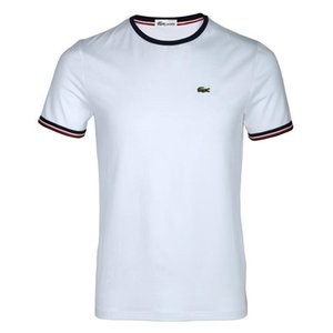 Novos homens de verão T-shirt dos homens de negócios de designer clássico de manga curta de gola circular solto básica moda T-shirt dos homens de fitness T-sh