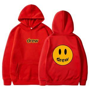 Arrefecer de Drew Casa Imprimir Justin Bieber Hoodies mulheres homens unisex Oversize moletom com capuz Treino Hip Hop Dropship Streetwear