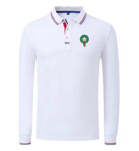 Risvolto maniche lunghe Marocco 2020 primavera e autunno del nuovo cotone di polo di calcio degli uomini della camicia di colore solido Polo Can fai da te Personalizza uomini di polo
