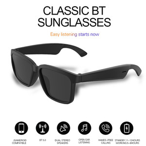 Top OEM sem fio áudio bluetooth óculos de sol fones de ouvido com a tecnologia de orelha aberta faz as mãos livres óculos Bluetooth responder chamadas