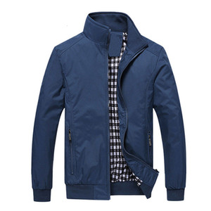 New 2019 Jacket Men Fashion Casual Loose Mens Jacket Sportswear Bomber Jacket Mens jackets and Coats Plus Size M- 5XL T190910