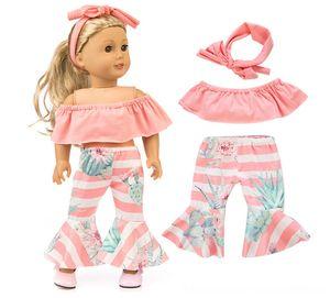 Amerikan kız için Moda seti elbise + hairbrand 18inch çocuklar için en iyi hediye Doll Aksesuar Bebekler Aksesuarları bebek giysileri
