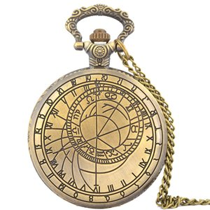 Large vintage retro engraving classical Roman character compass mapping pattern classic flip rune FOB pocket chain gift watch
