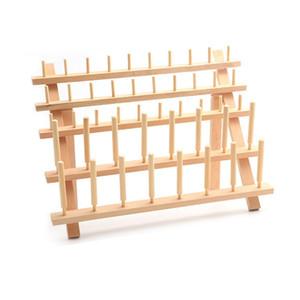 60PCS Carrete de madera del hilo de coser del soporte organizador del bordado de almacenamiento en rack titular