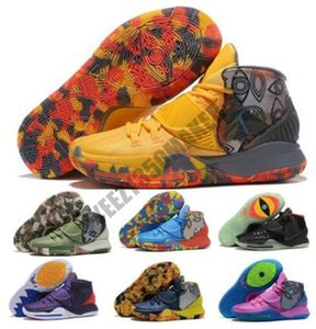 Kyrie الرجال 6 6S أحذية كرة السلة سخن مجموعة الهواء Kyries VI التنوير طائرة الأصفر شفيت العالم 2020 Chaussure المدربين أحذية رياضية