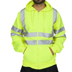 Jacket Men Winter Striped Patchwork Outerwear Coats Streetwear Clothing Work High Long Sleeve Hooded Sweatshirt Tops Blouse